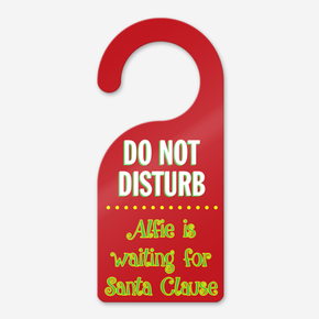Personalised Santa Stop Here Door Hanger Sign