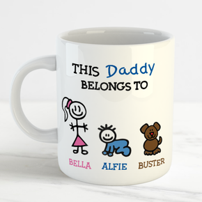 Personalised Daddy Create Your Own Family Mug