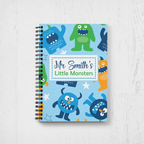 Personalised Teacher Notebook Monster