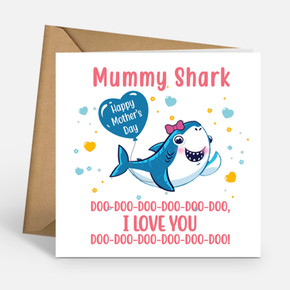 Mother's Day Mummy Shark Card