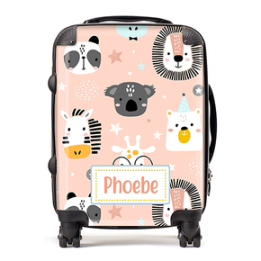 Personalised Safari Animals Stars Kids Children's Luggage Cabin Suitcase
