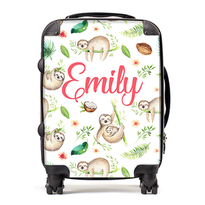 Personalised Sloth Kids Children's Luggage Cabin Suitcase