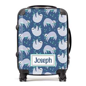 Personalised Sloth Boys Kids Children's Luggage Cabin Suitcase