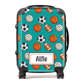 Personalised Sports Balls Kids Children's Luggage Cabin Suitcase