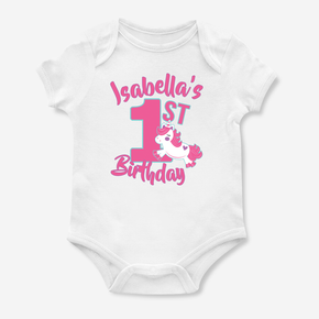 Unicorn My First Birthday Bodysuit