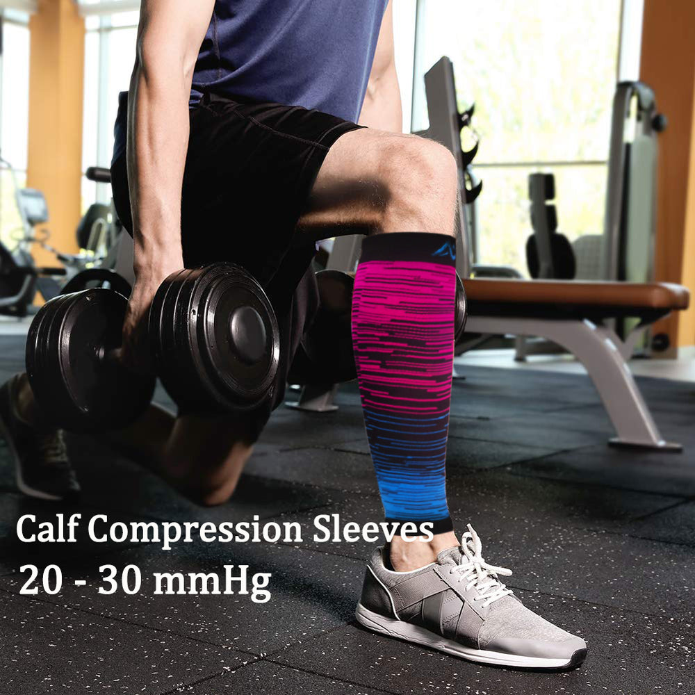 3-Pairs Gradient Compression Calf Sleeves (20-30mmHg) for Men & Women | ACTINPUT
