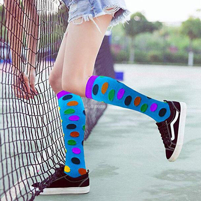 3-Pairs Wave Point Mix Avocado Compression Socks 20-25 mmHG For Man & Woman -4