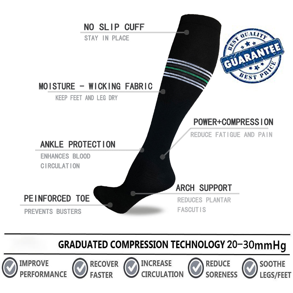 8-Pairs Cool Compression Socks Women & Men (20-30 mmHG) | Actinput