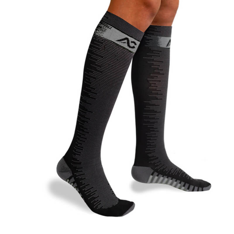 1-Pair Compression Socks for Athletics - Grey-1