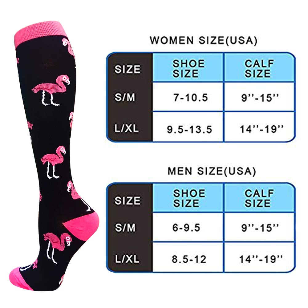 3-Pairs Cute Fashion Compression Socks (20-25 mmHG)| Actinput