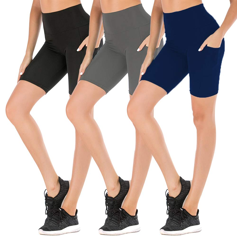 3 Pack Yoga Shorts for Women Workout