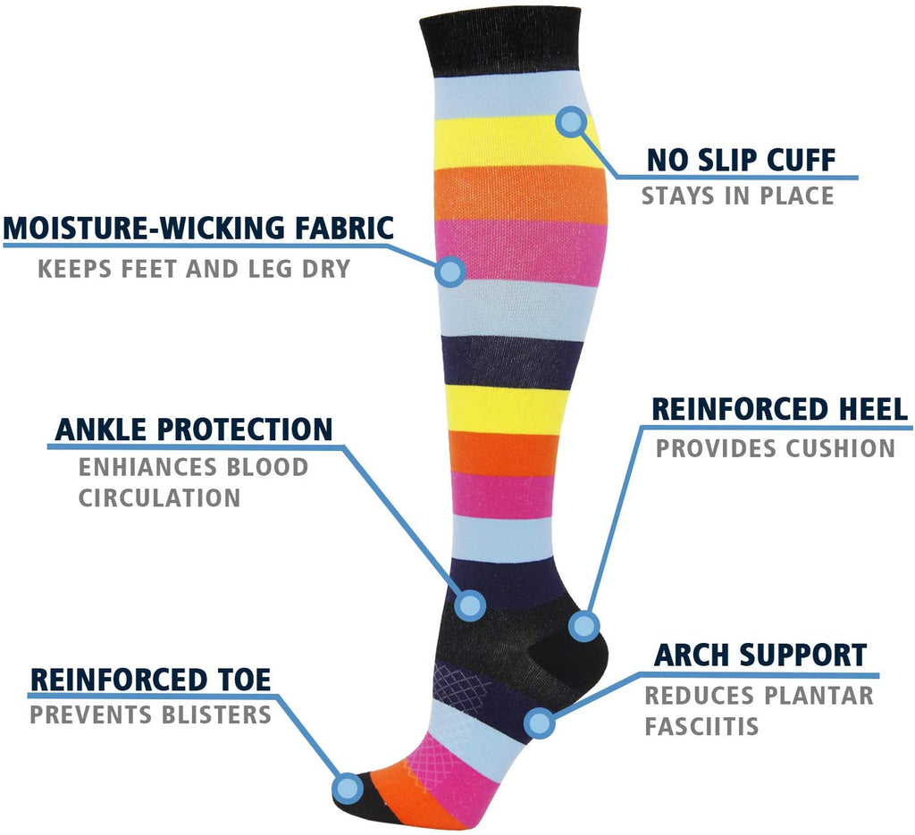 8-Pairs Mix Style Compression Socks for Man and Woman (20-30 mmHG) | ACTINPUT