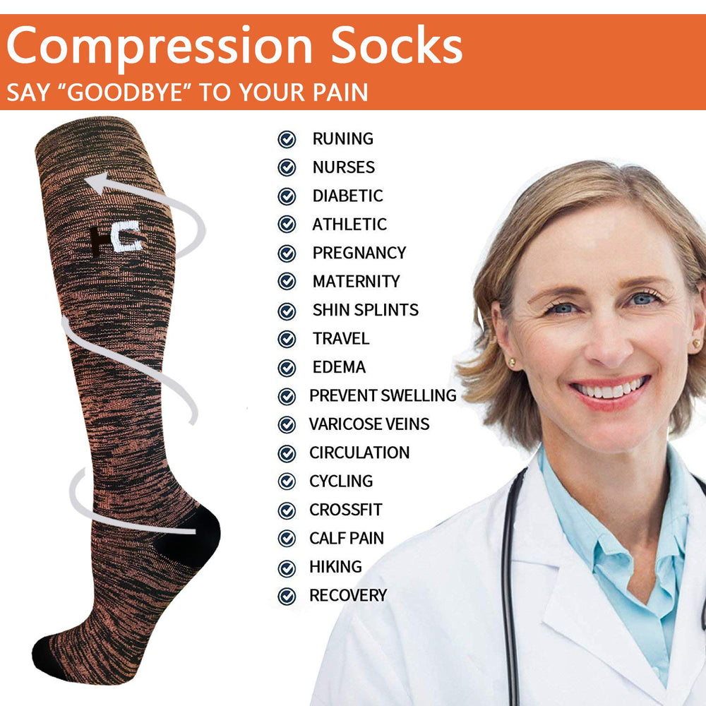 7-Pairs Color Mix Compression Socks for Man and Woman | ACTINPUT