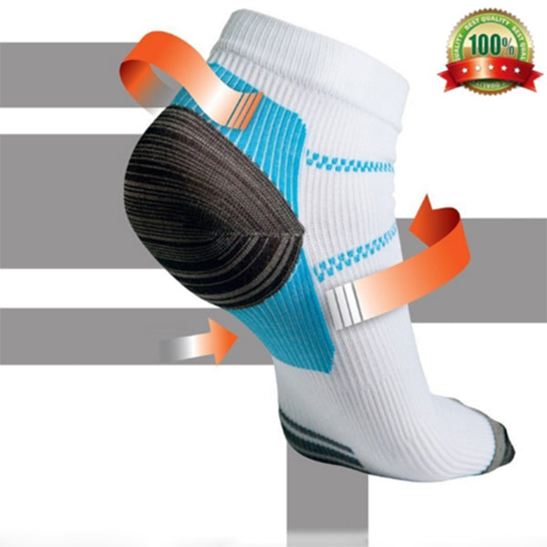 White-Turquoise 6 Pairs Low-Cut Compression Socks 6 pairs(Buy 5 get 1 free)
