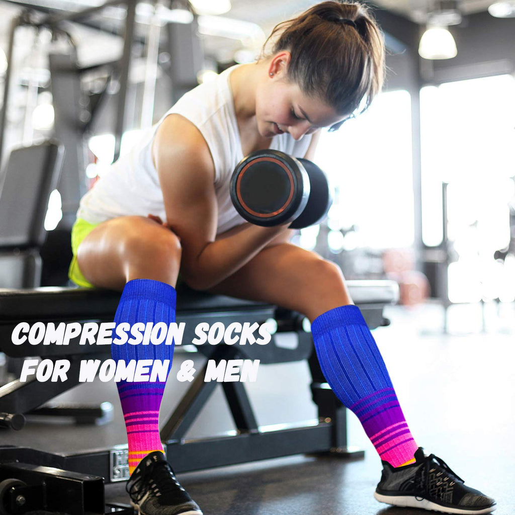 6-Pairs Cool Compression Socks for Man and Woman(20-25 mmHG) | ACTINPUT