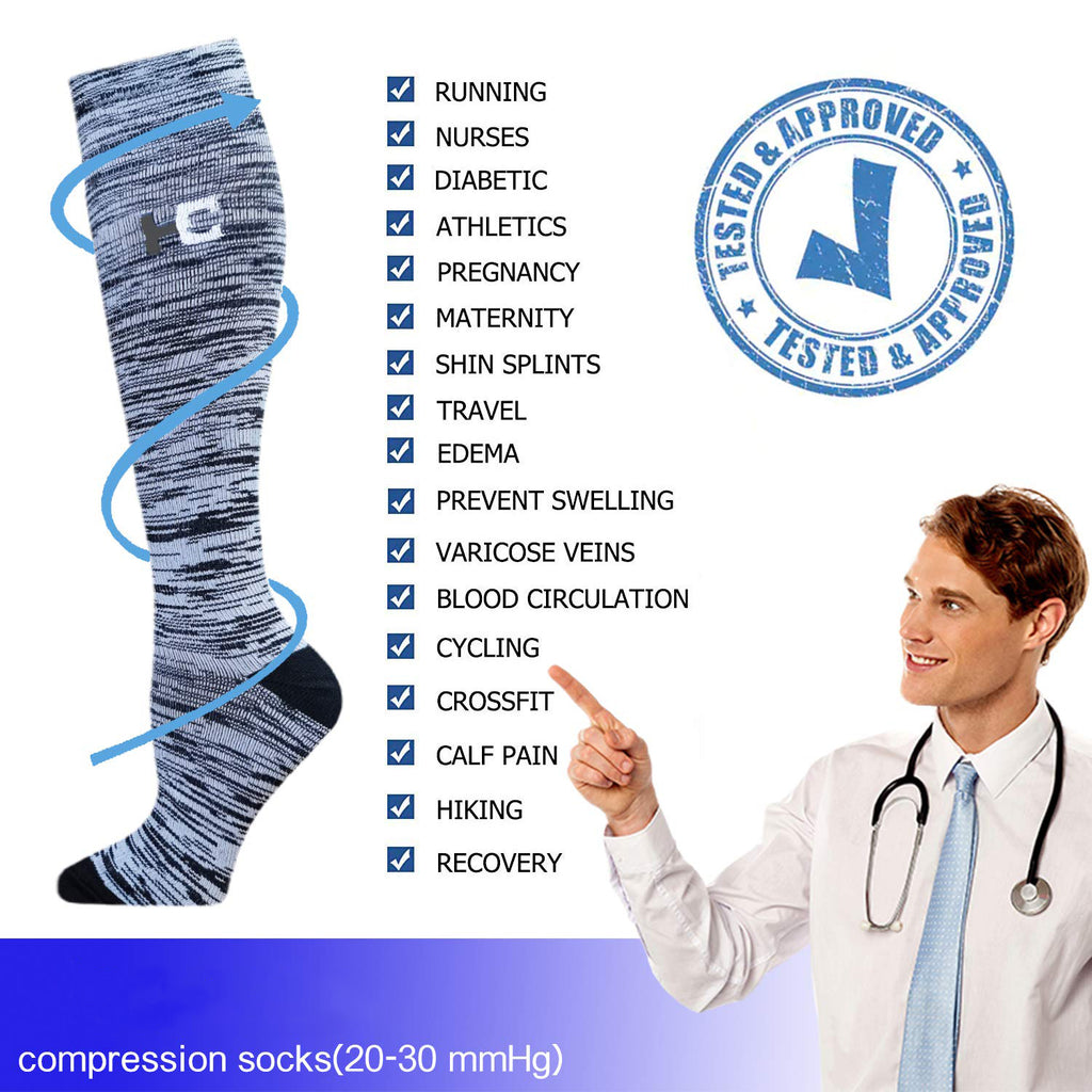 3-Pairs Gradient Style Compression Socks 20-30 mmHG for Man and Woman | ACTINPUT
