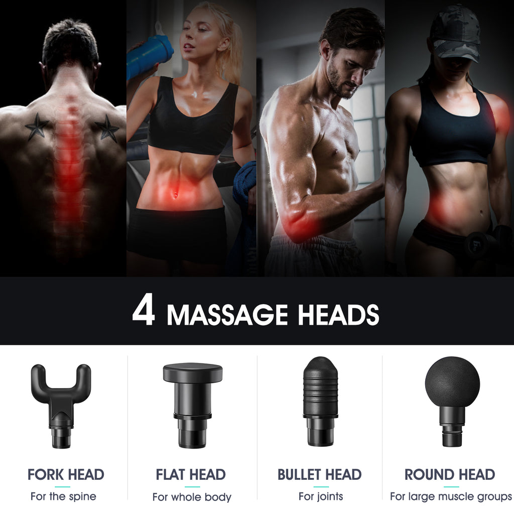 Silver Professional Deep Tissue Massager for Muscle | Actinput