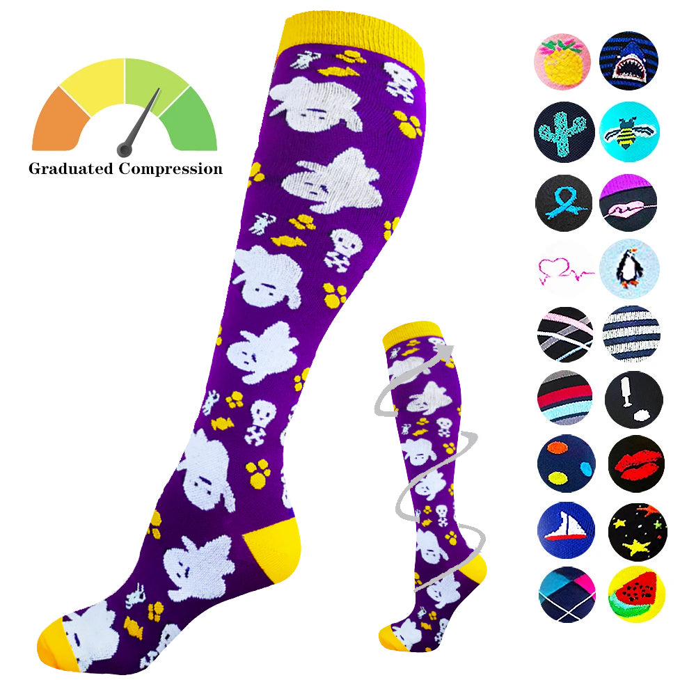 1-Pair Halloween Design Compression Socks ( 20-30MMHG) | Actinput