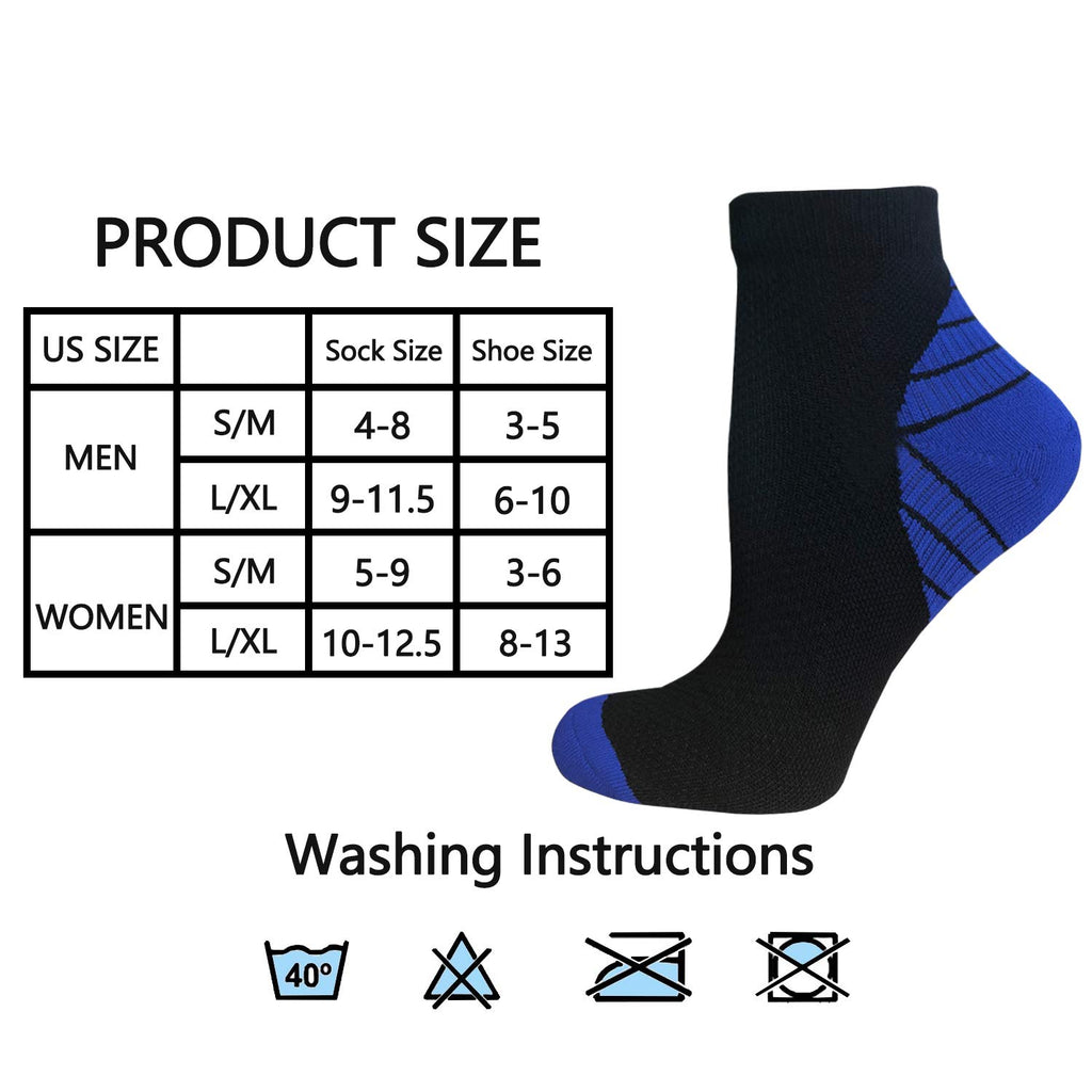 7-Pairs Low Cut Compression Socks | Actinput