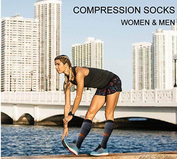 3-Pairs Striped Compression Socks for Man and Woman -5