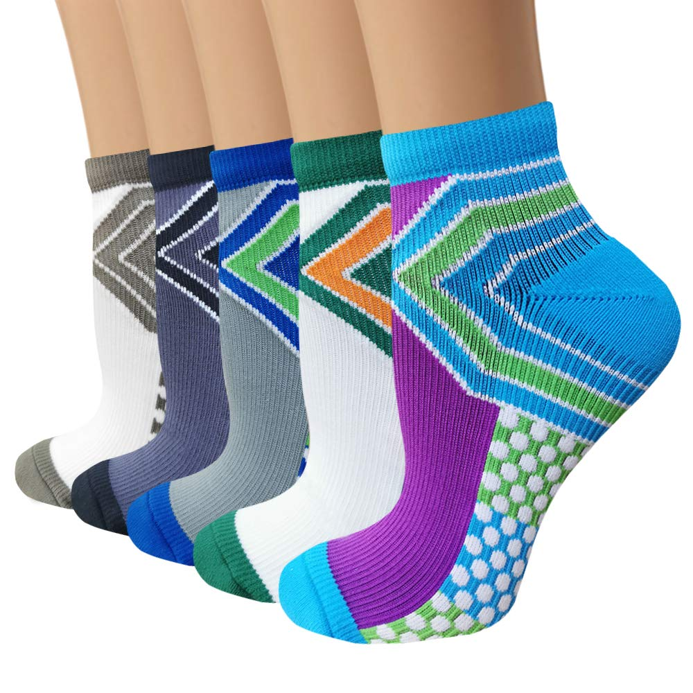5-Pairs Low Cut Compression Socks | Actinput