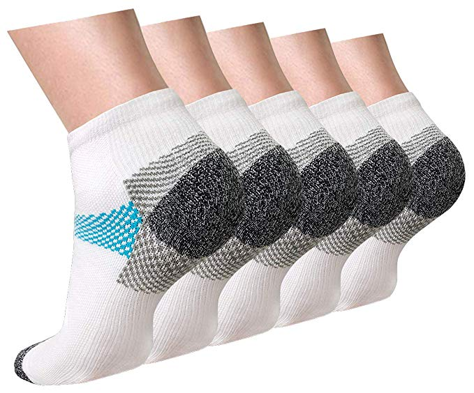 5-Pairs Compression Socks Plantar Fasciitis for Women Men | Actinput