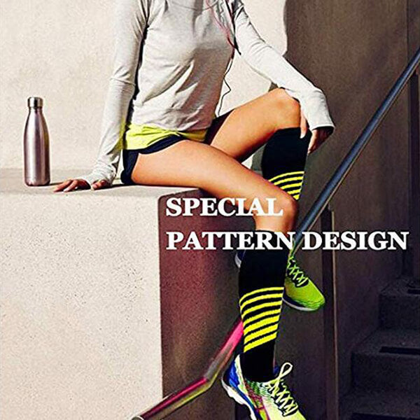 3-Pairs Striped Compression Socks for Man and Woman -6