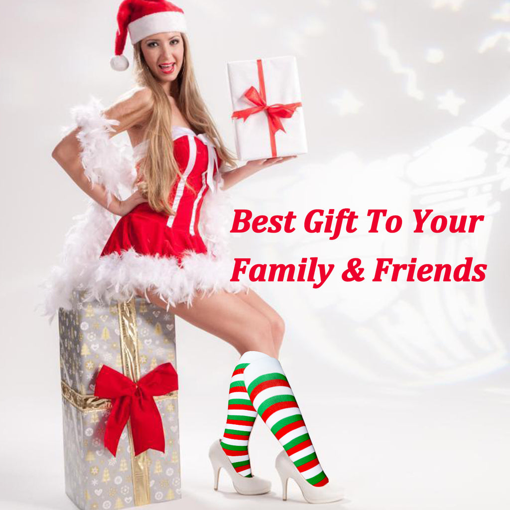 8-Pairs Christmas Stylish Compression Socks for Man and Woman | ACTINPUT