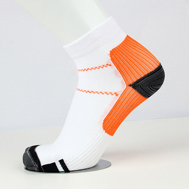 Orange Athlete-Plantar Fasciitis Support Ankle Socks