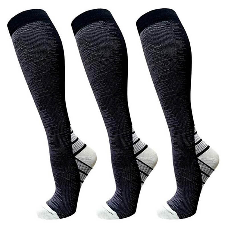 3-Pairs Athletic Compression Socks for Man & Woman -1