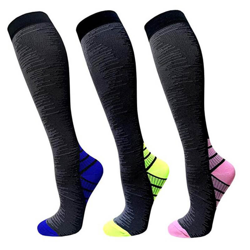 3-Pairs Stripe Copper Compression Socks for Man & Woman | ACTINPUT