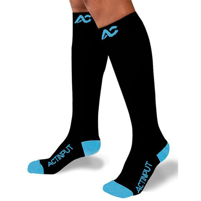 6 Pairs More Mile Compression Sports Running Calf Socks Mens Ladies Womens