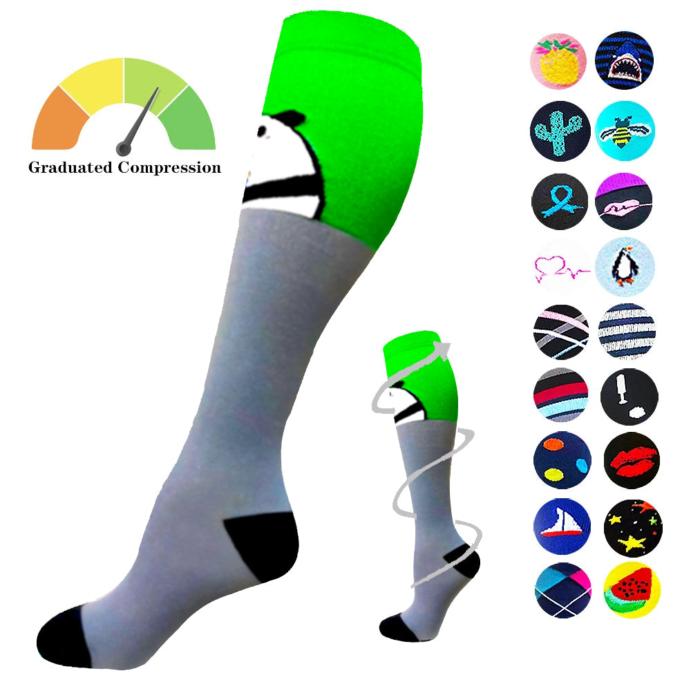 1-Pair Panda Compression Socks ( 20-30MMHG) | Actinput