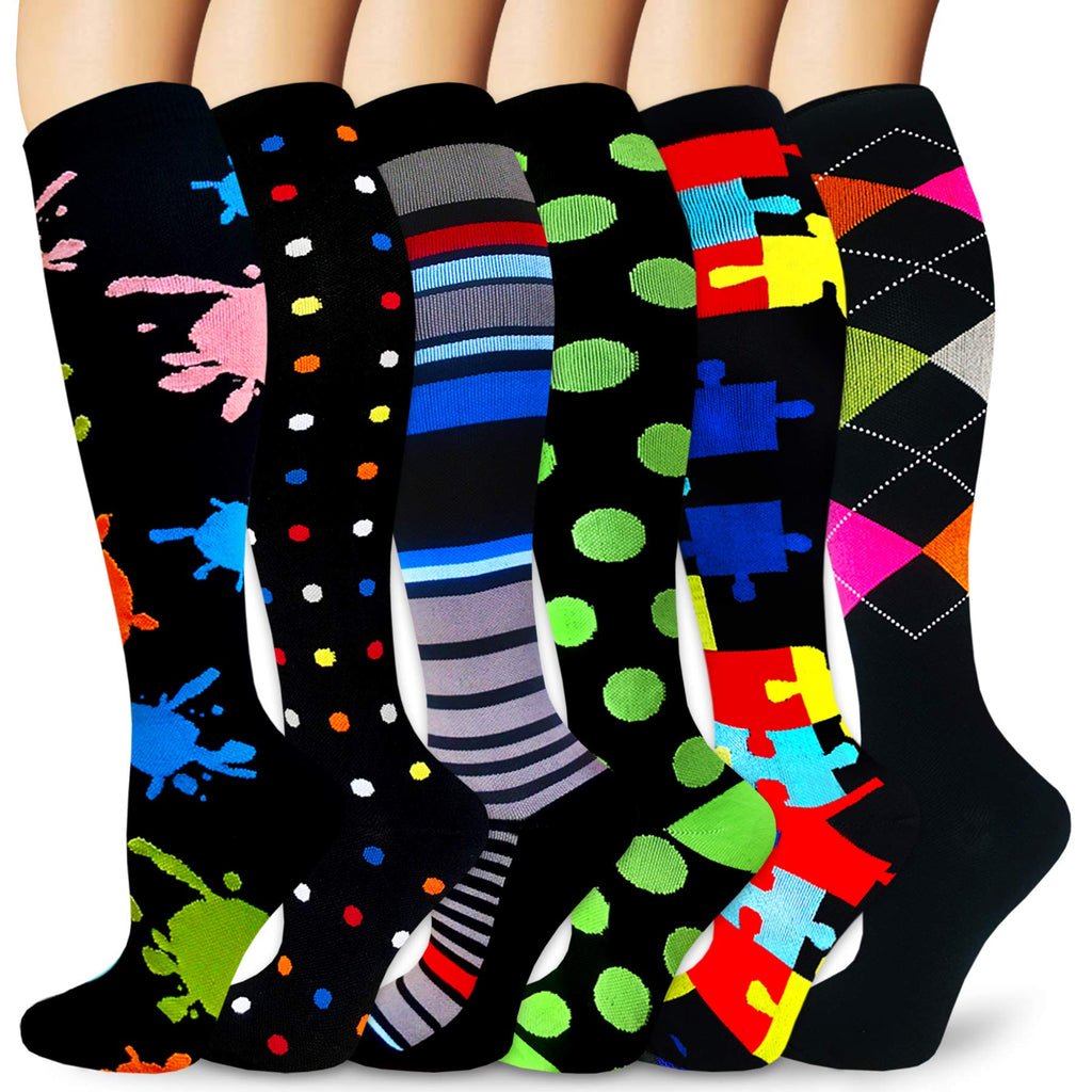 6-Pairs Cool Compression Socks for Man and Woman | ACTINPUT