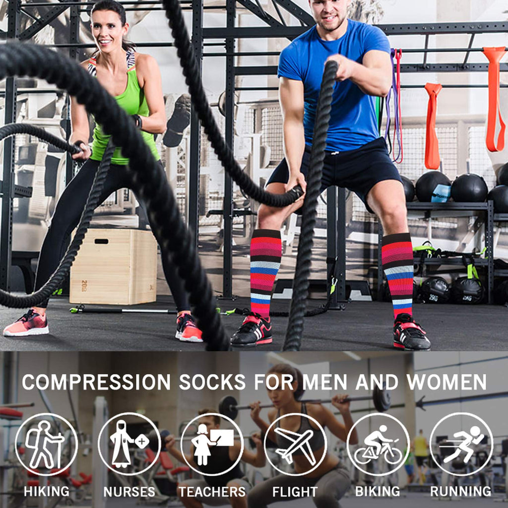 6-Pairs Cute Compression Socks for Man and Woman | ACTINPUT
