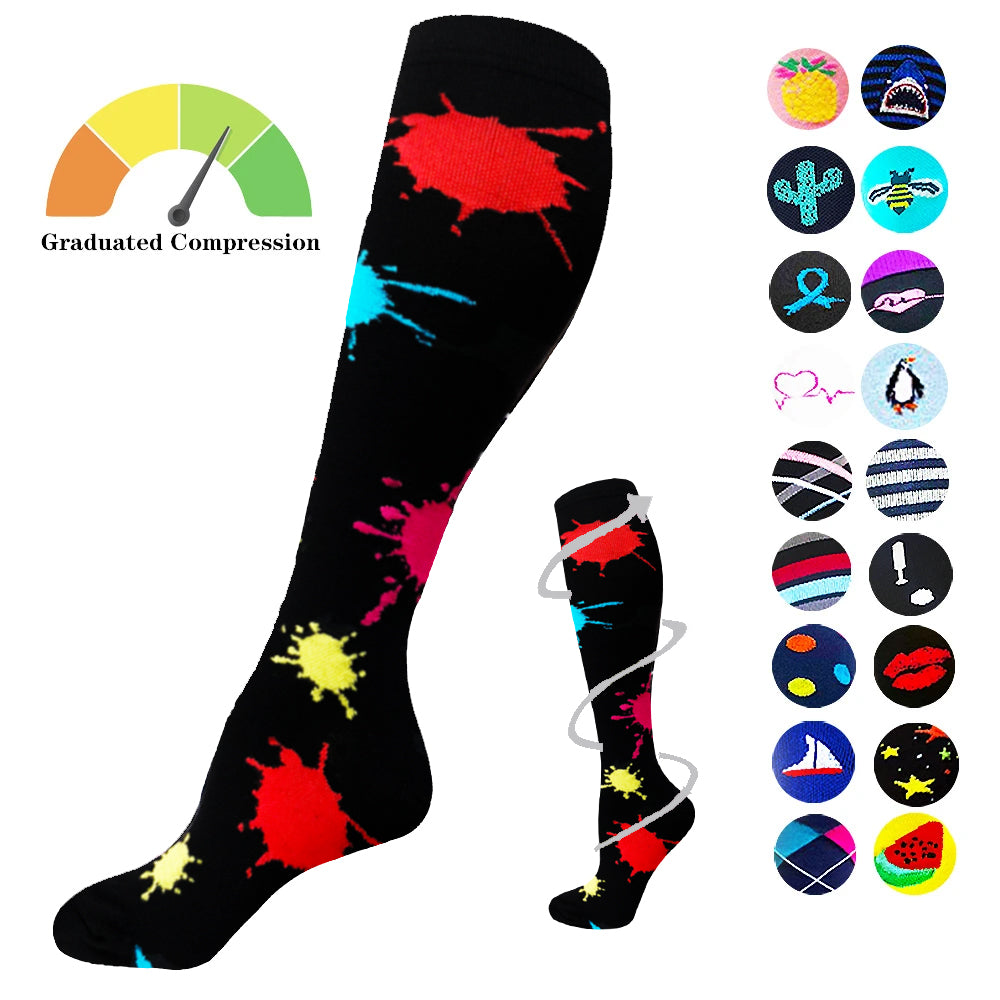 1-Pair Fun Compression Socks ( 20-30MMHG) | Actinput