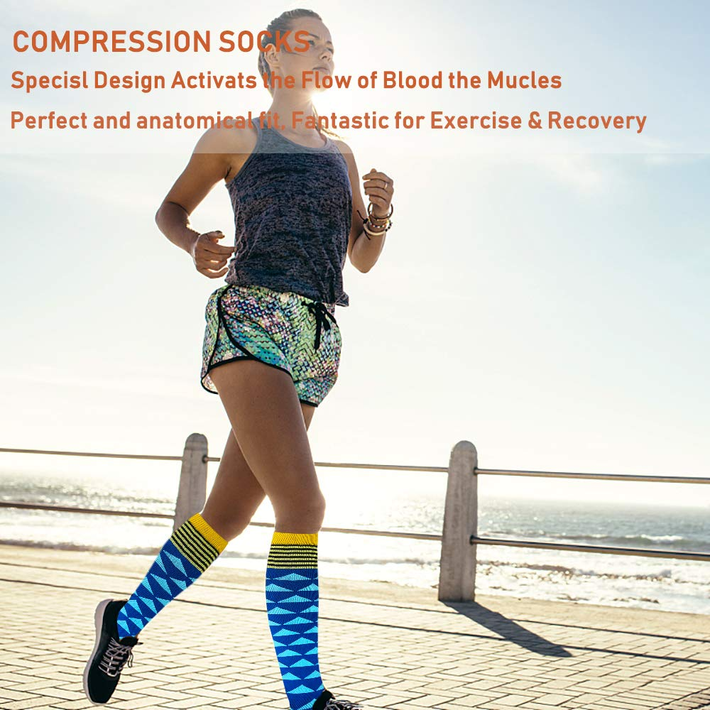 8-Pairs Design Mix Compression Socks for Man and Woman(20-30 mmHG) | Actinput