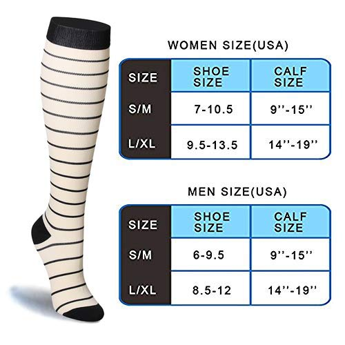 7-Pairs Compression Socks 20-25 mmHg for Man and Woman | ACTINPUT