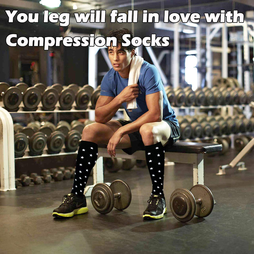 6-Pairs Compression Socks for Man and Woman(20-30 mmHG) | ACTINPUT
