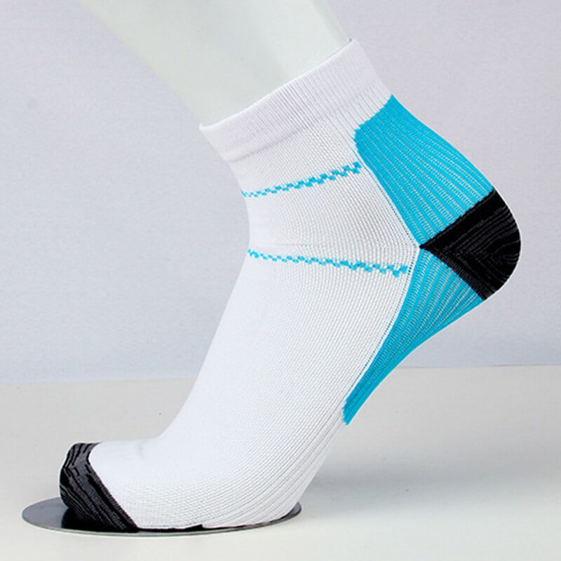 Blue Athlete-Plantar Fasciitis Support Ankle Socks