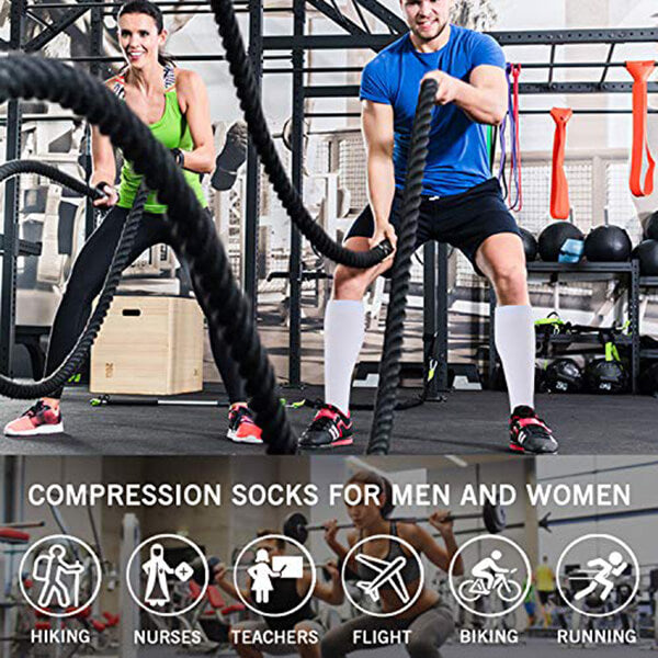 8-Pairs Copper Compression Socks 15-20 MMhg for Man and Woman | ACTINPUT