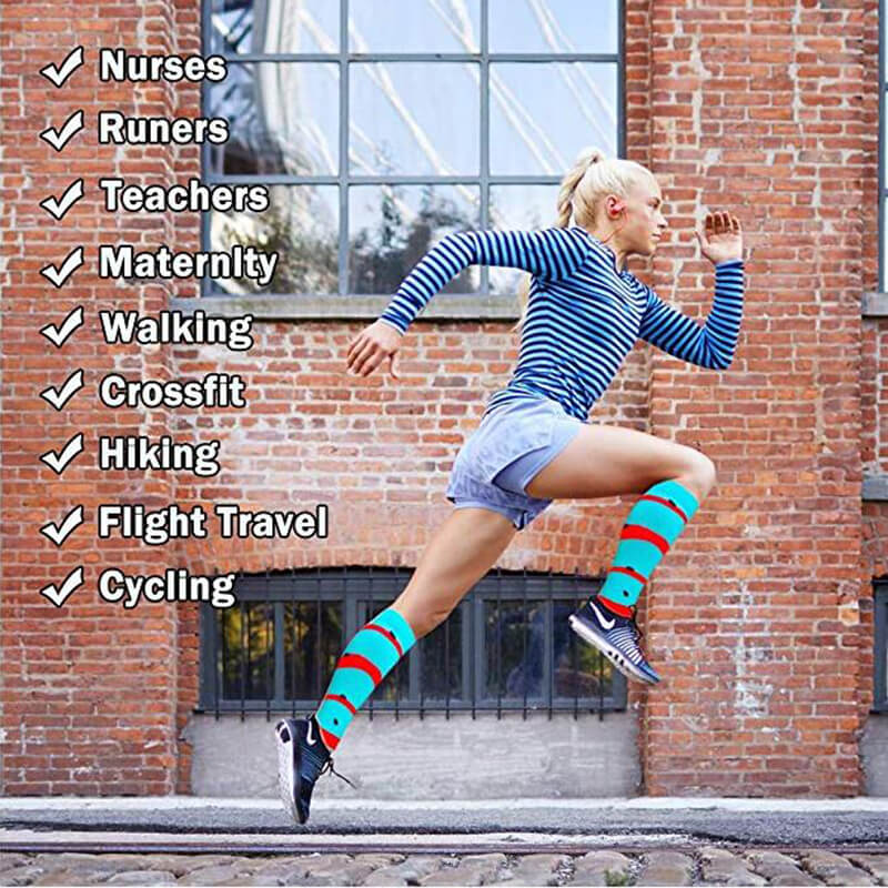 3-Pairs Fruit Print Stylish Compression Socks 20-25 mmHG For Man and Woman  -2