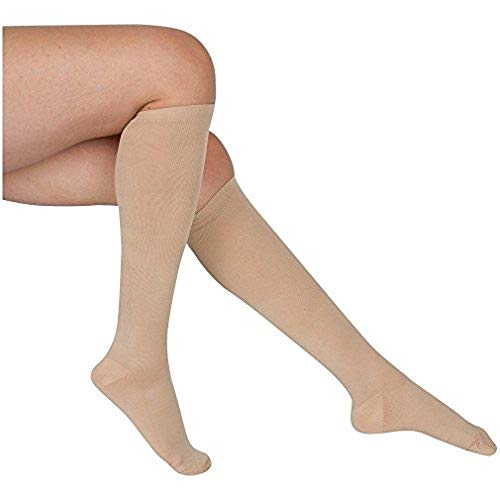 8-Pairs Knee-Length Nude Compression Socks -4