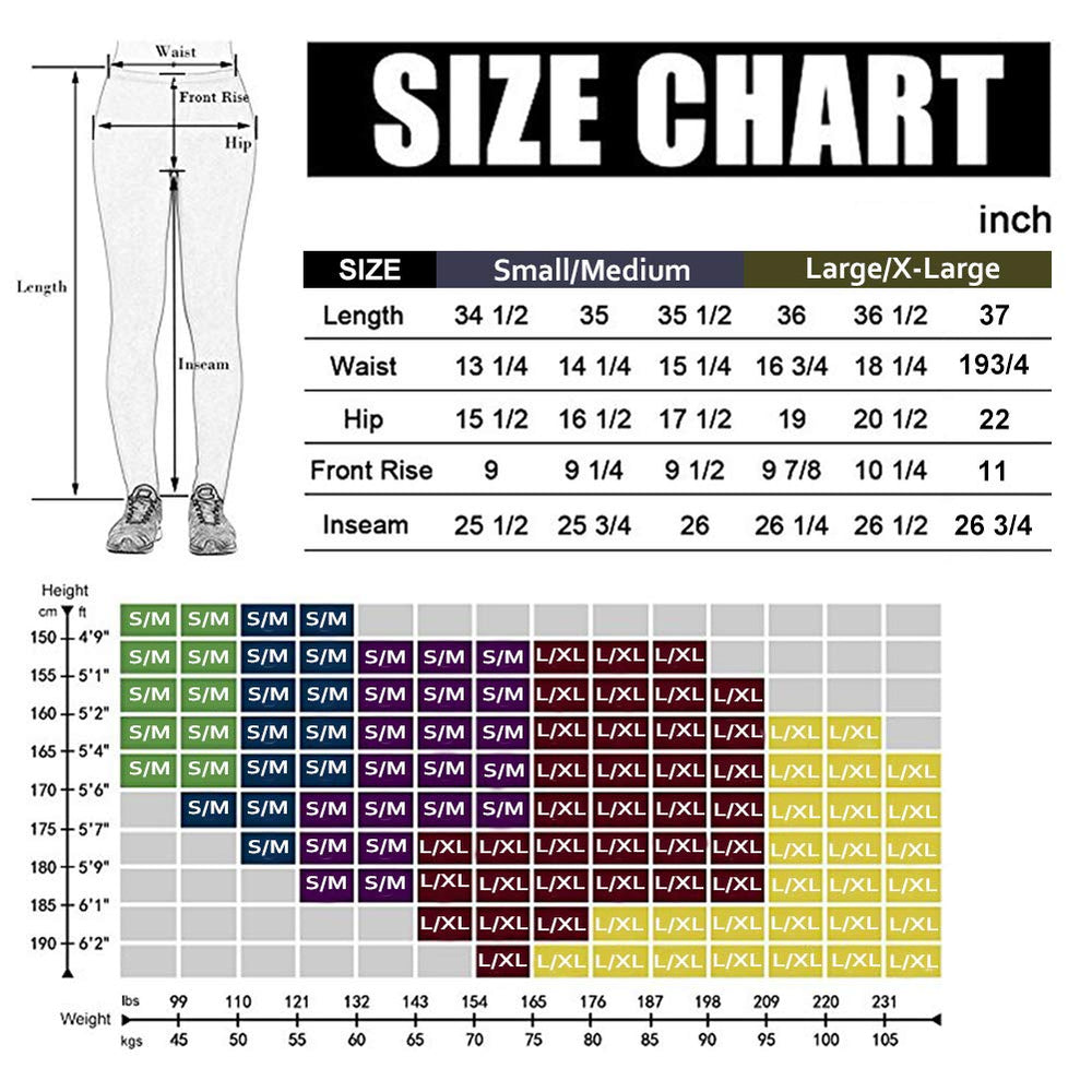 7 Pack High Waisted Leggings for Women-Reg & Plus Size