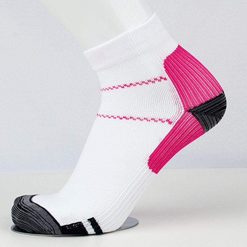 Pink Athlete-Plantar Fasciitis Support Ankle Socks