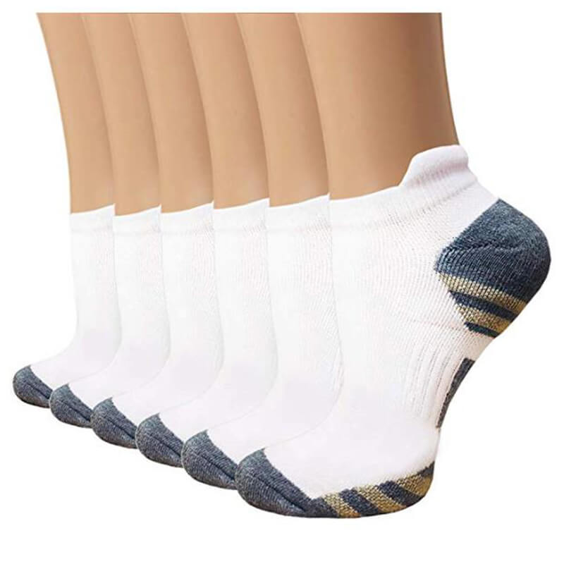 6-Pairs Copper Running Compression Socks -1