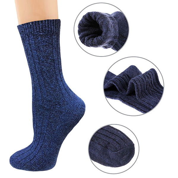 Wool Socks Women 5 Pack-Winter Soft Thick Warm Hiker Boot Crew Socks by Actinput