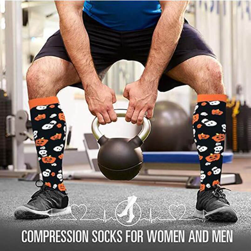 4-Pairs Halloween Stylish Compression Socks 20-25 mmHg for Man and Woman | ACTINPUT-3