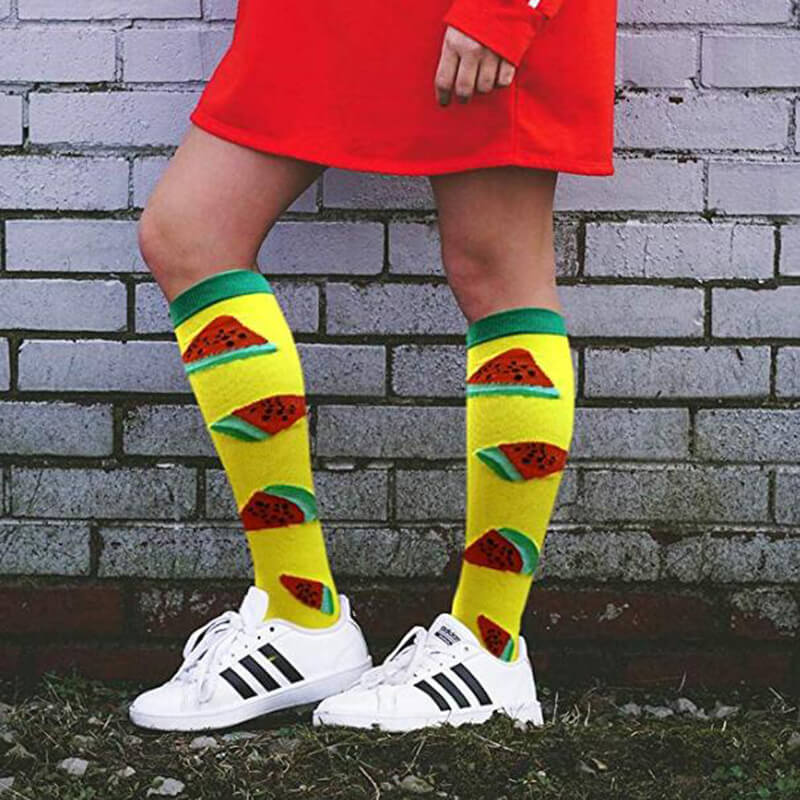 1-Pair Watermelon Print Compression Socks 20-25mmHg for Man and Woman -3