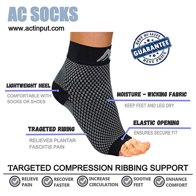 Compression Foot Sleeves for Men & Women | Actinput